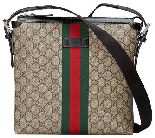 Buy: Gg Supreme Beige Canvas Messenger Bag