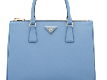 For Rent : PRADA Galleria Saffiano leather micro-bag blue