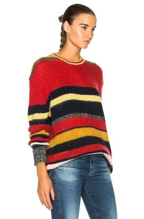 Re-sell: Rainbow Striped Stripy Mohair Jumper Sweater