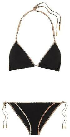 Re-sell: Beige Black Multicolor London Nova Check Two-piece Swims