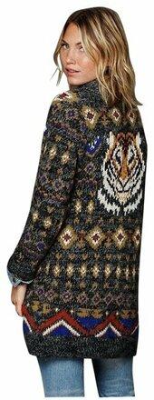 Re-sell: Tiger Mascot Sweater Rare Cardigan