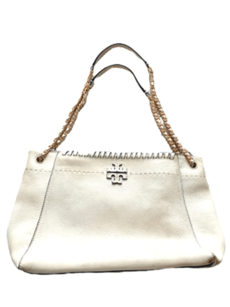 Re-sell: Shoulder White Bag w/ Gold Chain