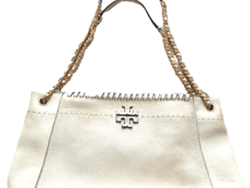 For  Sale: TORY BURCH Shoulder White Bag w/ Gold Chain