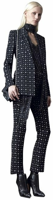 Buy: Black White Red Crosses Blazer Trousers Pant Suit