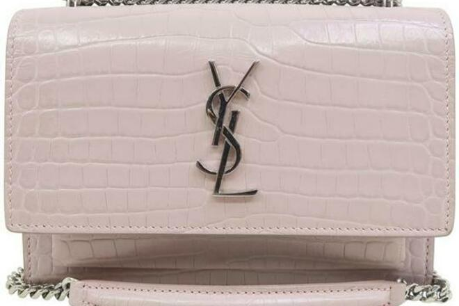 Re-sell: YSL Monogram Sunset Embossed Nude Calfskin Leather