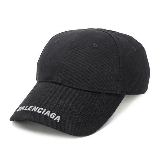Buy: Black Logo Embroidered Baseball Hat