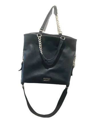 Re-sell: Black Leather Handbag