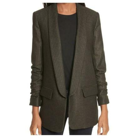 Re-sell:  VERONICA BEARD Green Clay Shawl Lapel Boy Blazer