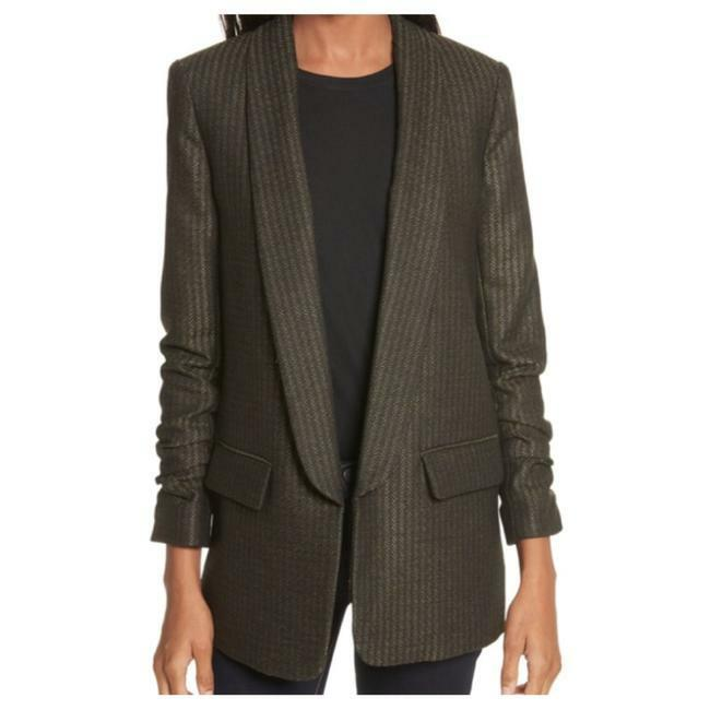 Buy:  VERONICA BEARD Green Clay Shawl Lapel Boy Blazer