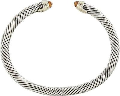 Buy: Silver Sterling Cable Classic Citrine Cuff Bracelet