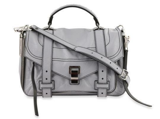 Buy: Ps1+ Medium Grey Calfskin Leather Shoulder Bag