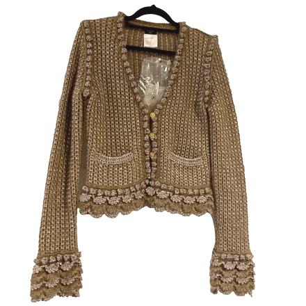 Buy: Metallic Knit Scalloped Jacket Size 8-10