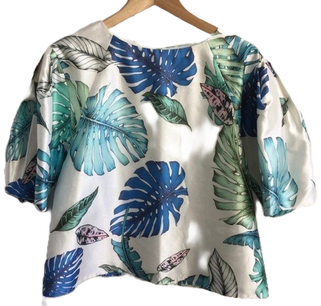 Re-sell: Palm print top Size 8