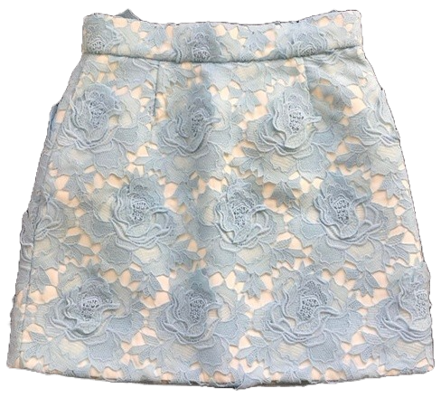 Re-sell: Baby blue lace skirt Size 12