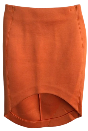 Re-sell: Orange mullet-style skirt Size 8