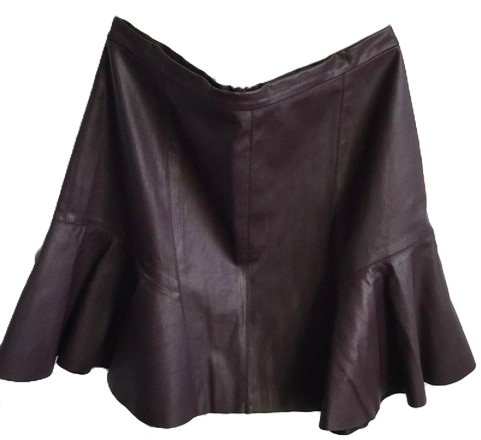 Re-sell: Plum leather look skirt Size 12