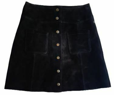 For  Sale: Black Button front skirt Size 10-12