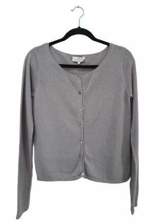 Re-sell: Grey Knitted Cardigan Size 12