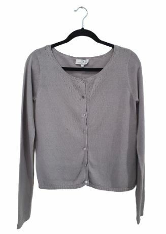 Buy: Grey Knitted Cardigan Size 12