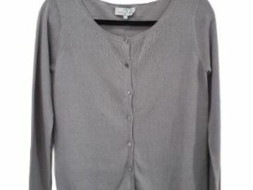 For  Sale: MADEMOISELLE JACADI grey Knitted Cardigan Size 12