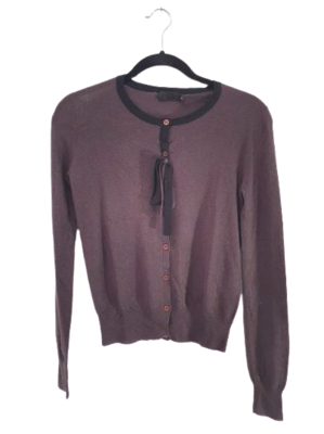 Buy: Wool/Silk Knitted Long Sleeve Cardigan Size 8