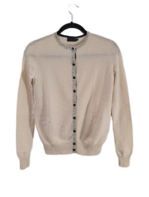Buy: Cream Wool/Silk Cardigan Size 8