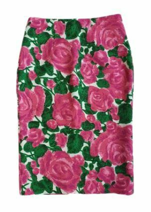 For  Sale: J'aime Pink Floral Pencil Skirt Size 8-10