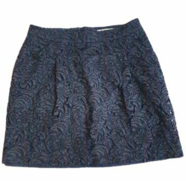 For  Sale: Navy laced mini skirt Size 8