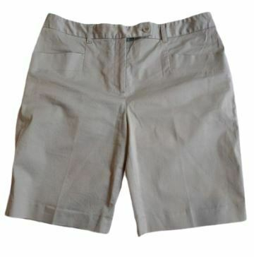 Re-sell: Navy beige cotton shorts Size 10