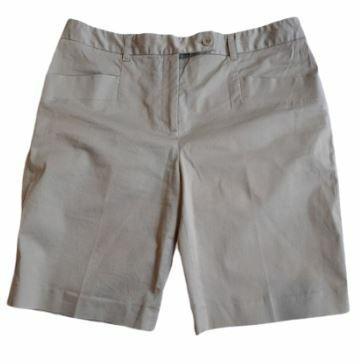 Buy: Navy beige cotton shorts Size 10