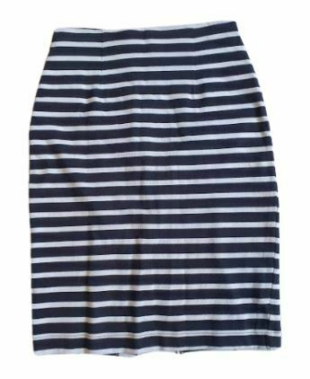 Re-sell: Black and white striped pencil skirt Size 8