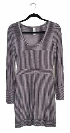 Buy: Grey striped Tshirt Dress Size 10-12