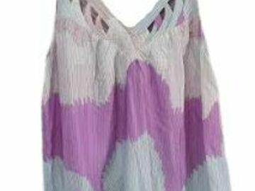 For  Sale: ZIMMERMANN 100% silk striped pattern top Size 12