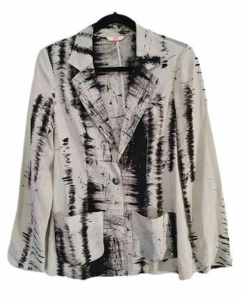 For  Sale: Black and white printed casual Blazer Size 4