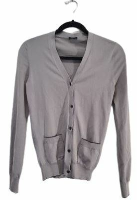 Buy: Grey buttoned cardigan with front pockets Size 8