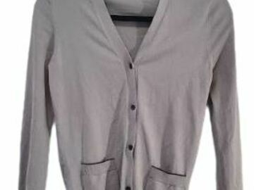 For  Sale: JIL SANDERS Grey buttoned cardigan with front pockets Size 8
