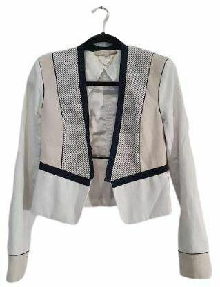 For  Sale: Cream/Navy Statement Blazer Size 8