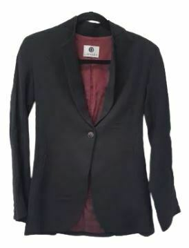 For  Sale: Black Wool Crepe blazer Size 8-10