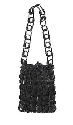 For  Sale: Black Beaded Bag