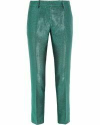 Re-sell: Green Woven Metallic pants Size 38