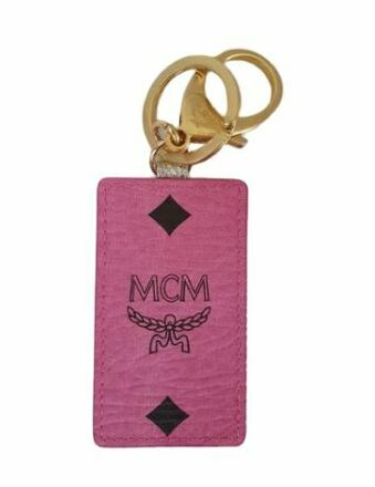 Re-sell: Logo pink rectangle canvas key chain