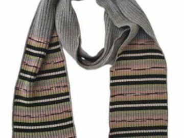 For  Sale: MISSONI Grey Wool Scarf