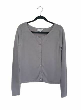 Re-sell: Grey fine knit cardigan Size 12
