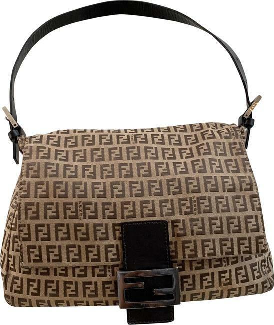 Buy: Brown Tan Logo Zucca Mama Baguette Monogram Shoulder Bag