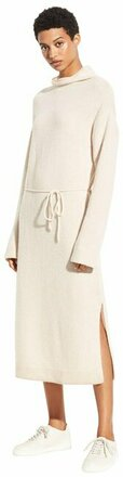 Re-sell: Cream Turtleneck Wool Cashmere Sweater Dress Size 8