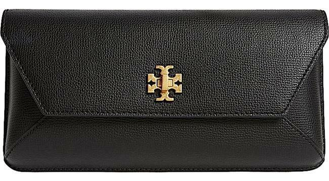 Buy: Kira Leather Envelope Black with Tag Clutch