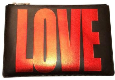Buy: Love Black Leather Clutch