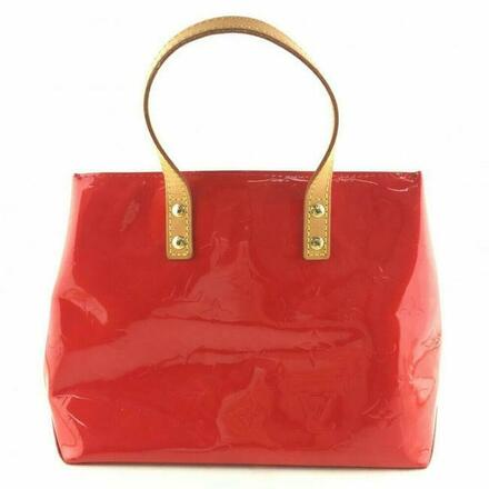 Re-sell: Red Patent Leather Satchel Handbag