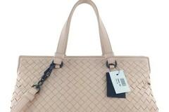 For  Sale: BOTTEGA VENETA Intrecciato Medium Top Handle Light Pink Nappa Lea