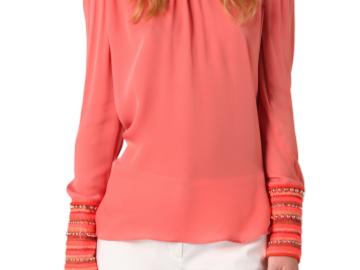 For  Sale: SASS & BIDE Orange designer top long statement sleeves Size 6